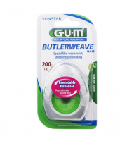 GUM Butlerweave Floss Mint Waxed 200 yd [070942305990]