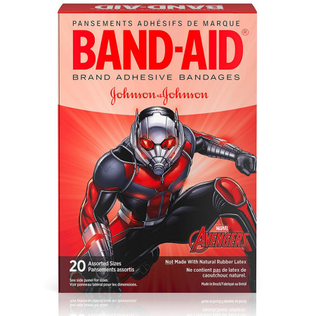 BAND-AID Marvel Avengers Children's Adhesive Bandages, Assorted Characted & Sizes 20 ea [381371162826]