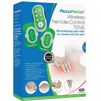 Carex AccuRelief Wireless Remote Control TENS Electrotherapy Pain Relief Unit 1 ea [023601290007]