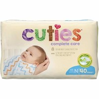 Cuties Complete Care Baby Diapers, Newborn - 40 ea [090891950645]