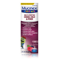 Mucinex Children's Multi-Symptom Cold and Fever Liquid, Berry Blast, 4 oz [363824017648]