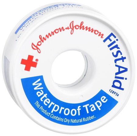JOHNSON & JOHNSON Red Cross First Aid Waterproof Tape 1 Inch X 10 Yards 10 Yards [381370050513]