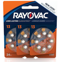 Rayovac Size 13 Hearing Aid Batteries 24 ea [012800512010]