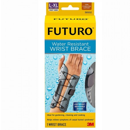 FUTURO Water Resistant Wrist Brace for Right Hand, Large/X-Large 1 ea [051131193635]