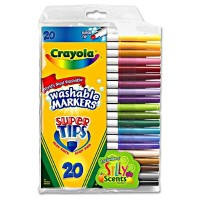 Crayola Super Tip Washable Markers 20 ea [071662081065]