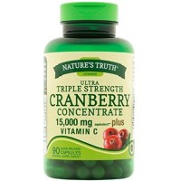 Nature's Truth Triple Strength Cranberry Concentrate 15000 mg Plus Vitamin C Capsules 90 ea [840093101082]