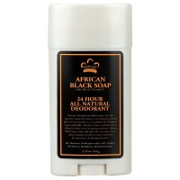 Nubian Heritage 24 Hour Natural Deodorant, African Black Soap 2.25 oz [764302106081]