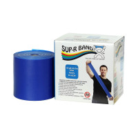 CanDo 10-6324 Sup-R Latex Free Exercise Band, 50 yd Roll, Blue-Heavy  1 ea [714905046543]