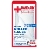 BAND-AID First Aid Rolled Gauze Sterile Roll, Medium 1 ea [381371161386]