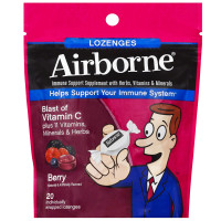 Airborne Berry Flavored Lozenges,1000mg of Vitamin C - Immune Support Supplement 20 ct [647865185918]