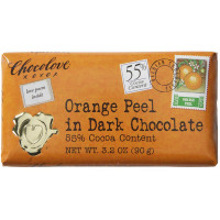 Chocolove Orange Peel, 3.2 oz bars, in Dark Chocolate 12 ea [716270001530]