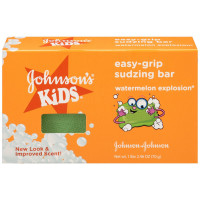 JOHNSON'S Kids Easy-grip Sudzing Bar Watermelon Explosion 2.46 oz [381371154111]