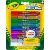 Crayola Glitter Glue, Assorted Colors 9 ea [071662035273]