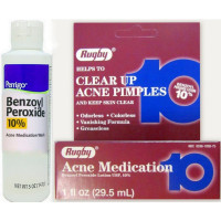 Rugby Acne Medication Benzoyl Peroxide Lotion 10% 1 oz [305361058753]