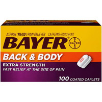 Bayer Extra Strength Back & Body 500 mg Caplets, 100 ea [312843555402]