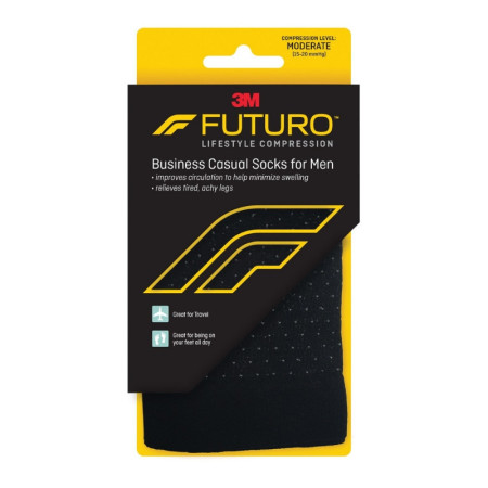 FUTURO Men's Business Casual Socks, Black, Large, 1 Pair [051131215078]