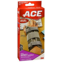 Ace Deluxe Right Wrist Stabilizer Adjustable Brace, Gray 1 ea [051131193987]