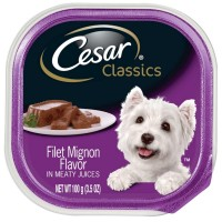 Cesar Canine Cuisine Filet Mignon In Meaty Juices 3.50 oz [023100017792]