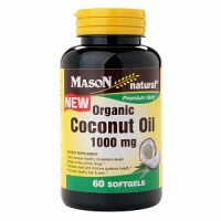 Mason Natural Organic Coconut Oil 1000mg, Softgels 60 ea [311845165350]