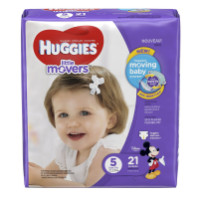 HUGGIES Little Movers Leak Lock Diapers, Size 5 21 ea [036000407983]