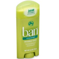 Ban Anti-Perspirant Deodorant Invisible Solid Unscented 2.60 oz [019045010264]