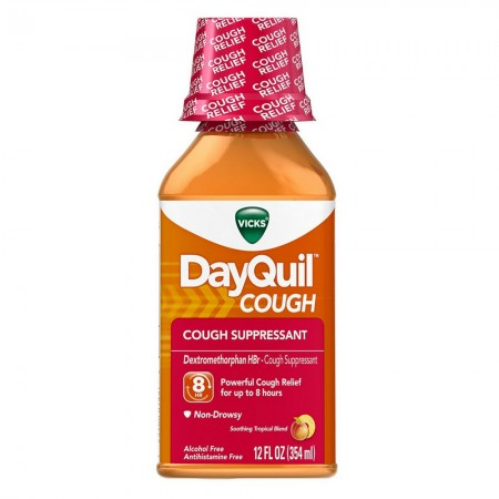 Vicks DayQuil Cough Relief Soothing Tropical Blend Flavor Liquid 12 oz [323900014374]
