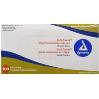 Dynarex Powder Free Vinyl Exam Gloves, X-Large 100 ea [616784261423]