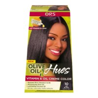 ORS Olive Oil Hues Vitamin & Oil Creme Color, Jet Black [10] 1 ea [632169116041]