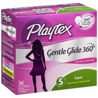 laytex Gentle Glide 360 Tampons, Super Absorbency, Fresh Scent 36 ea [078300098478]