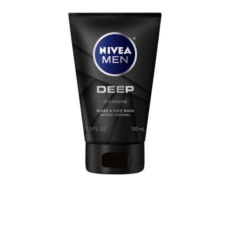 Nivea Men Deep Cleansing Beard And Face Wash  3.3 oz [072140023997]