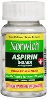 Norwich Aspirin Tablets Regular Strength 100 Tablets [311868093012]