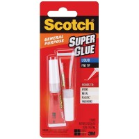 Scotch Super Glue Liquid 2 ea [051111025949]