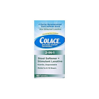 Colace 2-in-1 Tablets Stool Softener & Stimulant Laxative, 60 ea [367618110607]