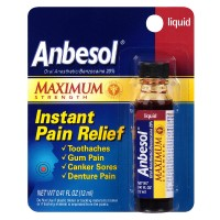 Anbesol Maximum Strength Instant Pain Relief Liquid 0.41 oz [305730215411]