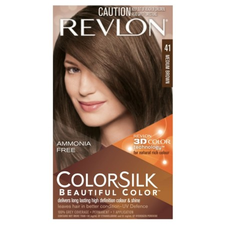 Revlon ColorSilk Hair Color 41 Medium Brown 1 Each [309978695417]