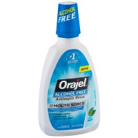 Orajel Alcohol-Free Antiseptic Mouth Sore Rinse, Fresh Mint 16 oz [310310000035]