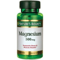 Nature's Bounty Magnesium 500 mg Tablets 100 ea [074312055355]
