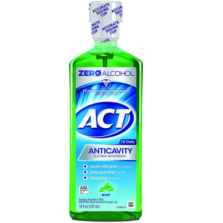 ACT Anticavity Fluoride Rinse Mint 18 oz [041167094280]