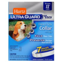 Hartz Ultraguard Plus Flea & Tick Collar for Dog, White 1 ea [032700942670]