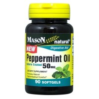 Mason Natural Peppermint Oil Enteric Coated Soft Gels, 50MG 90 ea [311845171993]