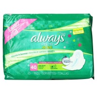 Always Fresh Ultra Thin Pads with Flexi Wings Long Super, Fresh Scent 40 Each [037000223221]