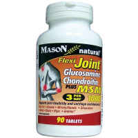 Mason Natural Flexi Joint Glucosamine Chondroitin Tablets With MSM 1000 90 ea [311845136893]