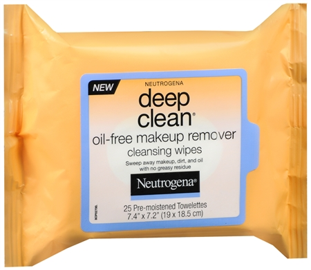 Neutrogena Deep Clean Oil-Free Makeup Remover Cleansing Wipes 25 Each [070501151259]