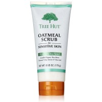 Tree Hut Oatmeal Scrub for Sensitive Skin, Pear & Chia Seed 6 oz [075371004605]