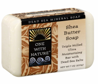 One With Nature  Shea Butter Dead Sea Mineral Soap 7 oz [893455000332]