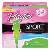 Playtex Sport Unscented Super Absorbency Tampons 36 ea [078300099239]