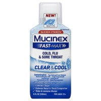 Mucinex Fast-Max Maximum Strength Clear & Cool Adult Relief Liquid 6 oz [363824542669]
