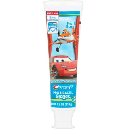 Crest Pro-Health Stages The World of Cars Toothpaste Fruit Burst 4.20 oz [068305632333]