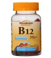 Sundown Naturals Vitamin B-12 500mcg Gummies 50 ea [030768529598]