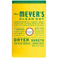 Mrs Meyers Clean Day Dryer Sheets, Honeysuckle Scent 80 ea [808124701151]